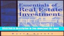 [Reading] Essentials of Real Estate Investment (Essentials of Real Estate Investment, 6th ed) New