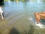Mes pieds sont dans l'eau mes pieds sont dans l'eau !