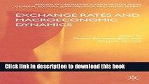 [PDF] Exchange Rates and Macroeconomic Dynamics (Applied Econometrics Association Series) Book