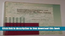 [Reading] Information Quality Assurance and Internal Control for Management Decision Making Ebooks