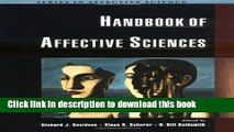 [Popular Books] Handbook of Affective Sciences (Series in Affective Science) Free Online