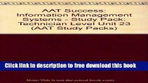 [Reading] AAT Success: Information Management Systems - Study Pack; Technician Level Unit 23 (AAT