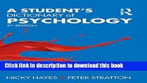 [Popular Books] A Student s Dictionary of Psychology Free Online