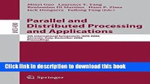 [Popular Books] Parallel and Distributed Processing and Applications: 4th International Symposium,