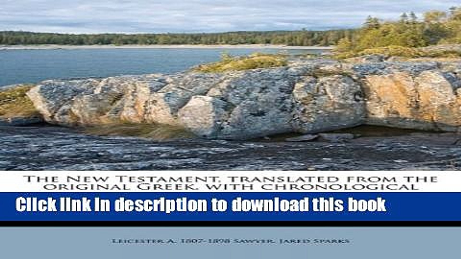 Ebook The New Testament, Translated from the Original Greek, with Chronological Arrangement of the