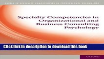 [Popular Books] Specialty Competencies in Organizational and Business Consulting Psychology Free