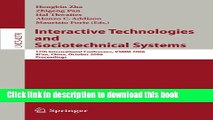 [Popular Books] Interactive Technologies and Sociotechnical Systems: 12th International