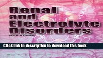 Title : [PDF] Renal and Electrolyte Disorders (Renal and Electrolyte Disorders (Schrier)) Book Free