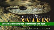 [Popular Books] The Encyclopedia of Snakes Full Online