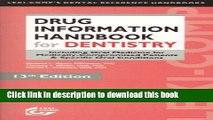 [PDF] Lexi-Comp s Drug Information Handbook for Dentistry (Lexi-Comp s Dental Reference Handbooks)