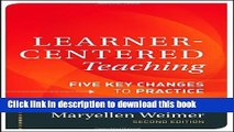 [Fresh] Learner-Centered Teaching: Five Key Changes to Practice Online Ebook