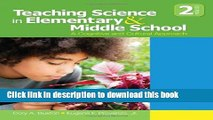[Popular] Books Teaching Science in Elementary and Middle School: A Cognitive and Cultural