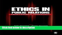 Ebook Ethics in Public Relations: Responsible Advocacy Full Online
