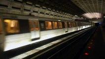 DC Metro (WMATA): Vienna bound 6 cars Orange Line train at Ballston-MU