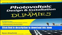 [Popular] Books Photovoltaic Design and Installation For Dummies Full Online
