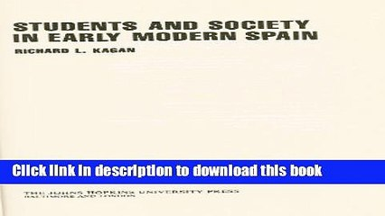 [Fresh] Students and Society in Early Modern Spain Online Books