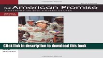 [Popular] Books The American Promise Value Edition, Volume II: From 1865: A History of the United