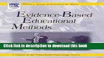 Books Evidence-Based Educational Methods (Educational Psychology) Popular Book