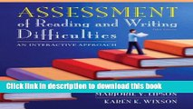 [Fresh] Assessment of Reading and Writing Difficulties: An Interactive Approach (5th Edition)