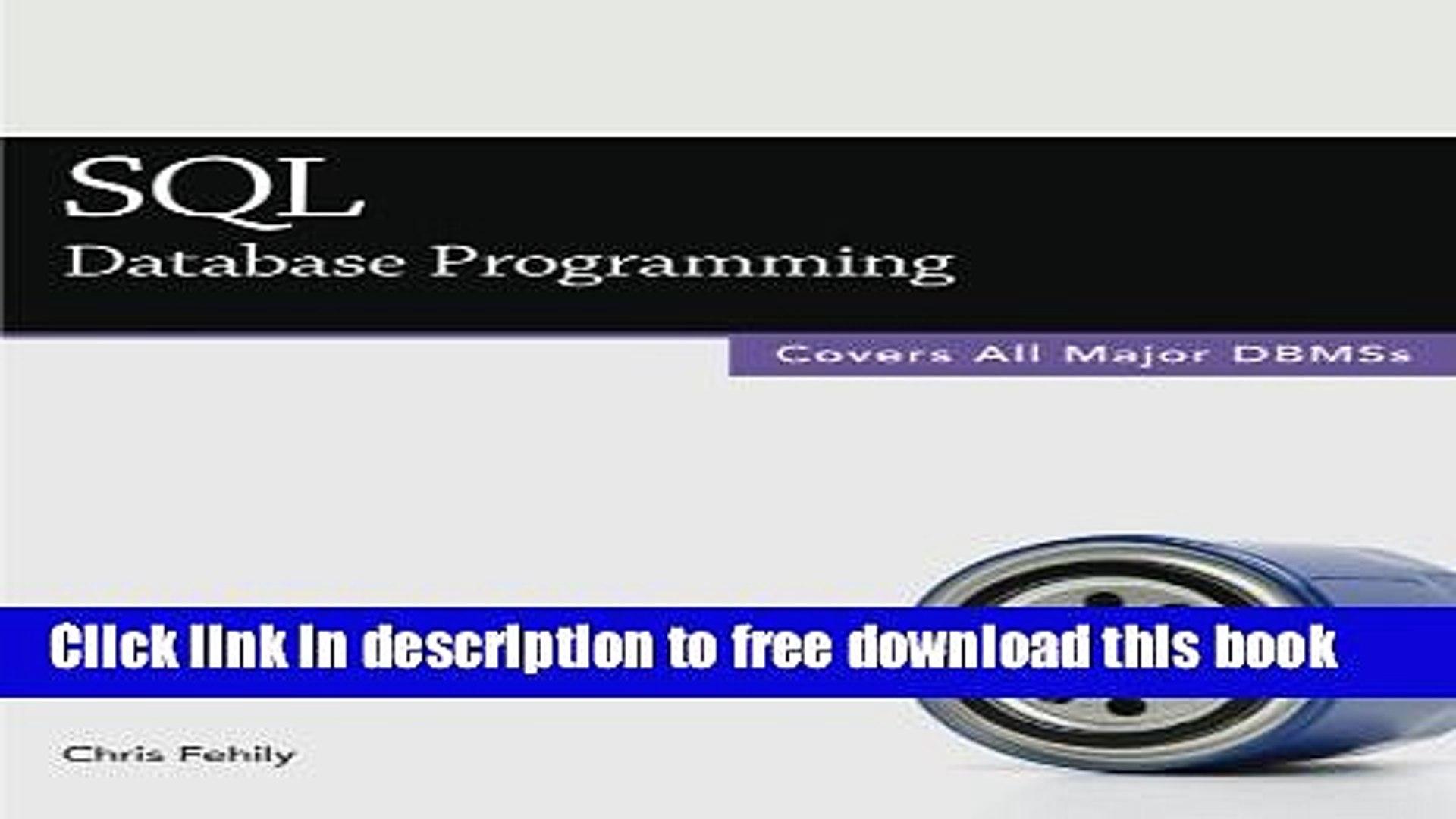 Download SQL (Database Programming) Book Free