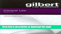 [Popular] Books Gilbert Law Summaries on Criminal Law Free Online