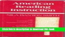 [Fresh] American Reading Instruction Online Books