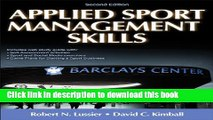 [Popular Books] Applied Sport Management Skills-2nd Edition With Web Study Guide Full