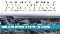 [Popular] Books The Great Partition: The Making of India and Pakistan Free Online