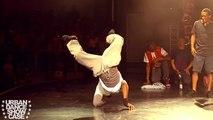 Battle de breakdance entre deux danseurs