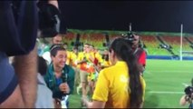 JO de Rio : une joueuse de rugby demandée en mariage par sa petite amie