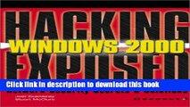 [PDF] Windows 2000 (Hacking Exposed) Book Free