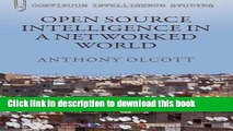 [PDF] Open Source Intelligence in a Networked World (Bloomsbury Intelligence Studies) Book Free