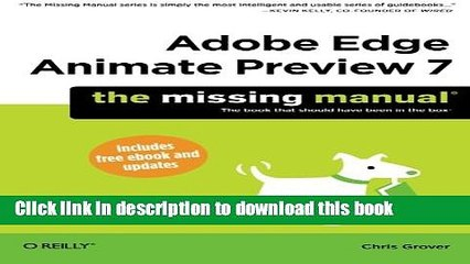 Adobe Edge Animate/The Missing Manual Software/Book Review