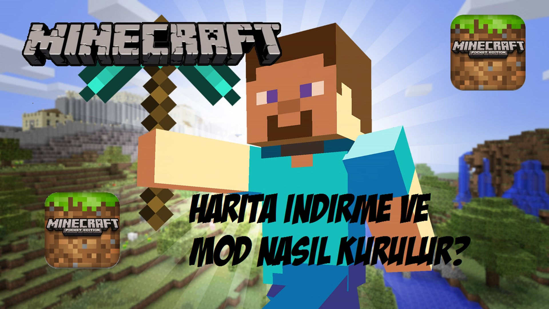Minecraft Pe Harita Indirme Ve Mod Kurma Nasil Yapilir Turkce Re Captured Dailymotion Video