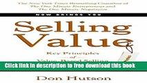 [Download] Selling Value: Key Principles of Value-Based Selling Paperback {Free|
