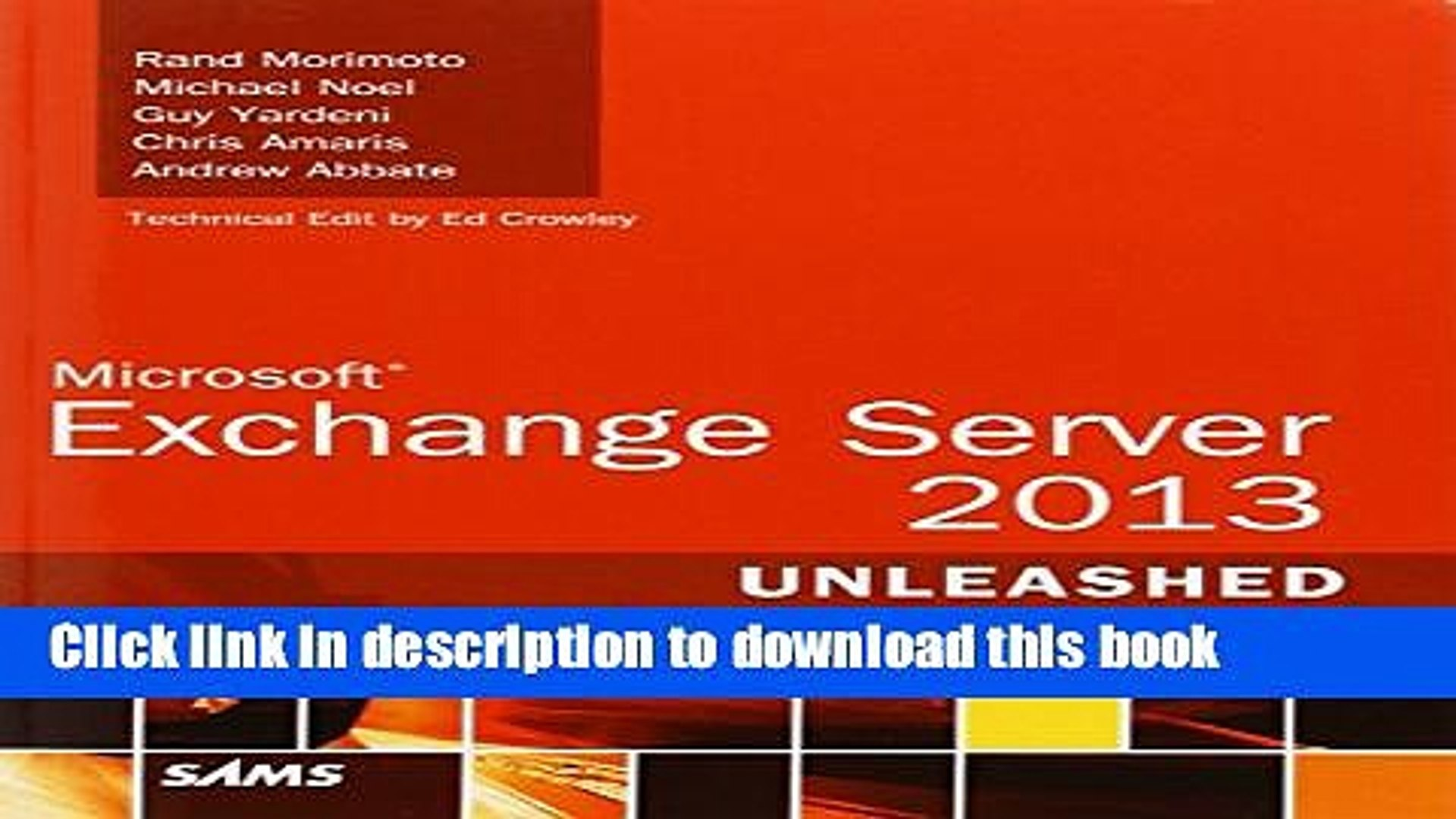 [Download] Microsoft Exchange Server 2013 Unleashed Paperback Free