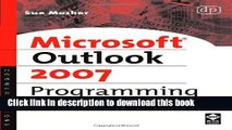 [Download] Microsoft Outlook 2007 Programming: Jumpstart for Power Users and Administrators Kindle