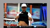 El Poeta Callejero vuelve a aparecer sin micrófono y además enseña la barriga-El Show Del Mediodia-Video