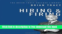 [Download] Hiring   Firing (The Brian Tracy Success Library) Paperback Free