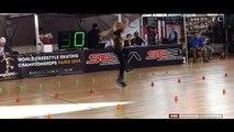 Fantastic little girl Rollerblade Freestyle Slalom World Championship Paris - [FullTimeDhamaal]