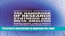 [Download] The Handbook of Research Synthesis and Meta-Analysis Paperback Online