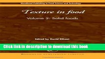 Download Texture in Food: Solid Foods (Woodhead Publishing Series in Food Science, Technology and