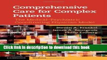 [Download] Comprehensive Care for Complex Patients: The Medical-Psychiatric Coordinating Physician