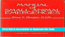 [Download] Manual of Small Animal Emergencies Hardcover Online