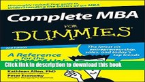 [Download] Complete MBA For Dummies Book Free