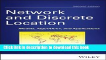 [Read PDF] Network and Discrete Location: Models, Algorithms, and Applications Ebook Free