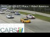 Project Cars Career REPLAY | US GT3 Championship Round 3 Race 1 | McLaren MP4 12C GT3 Road America