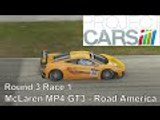 Project Cars Career | US GT3 Championship | McLaren MP4 12C GT3 | Round 3 Race 1 Road America