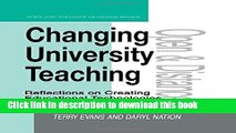[Popular] Changing University Teaching: Reflections on Creating Educational Technologies (Open and