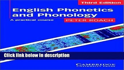 Ebook English Phonetics and Phonology Audio Cassettes: A Practical Course  Full Download
